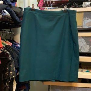 Hunter green pencil skirt